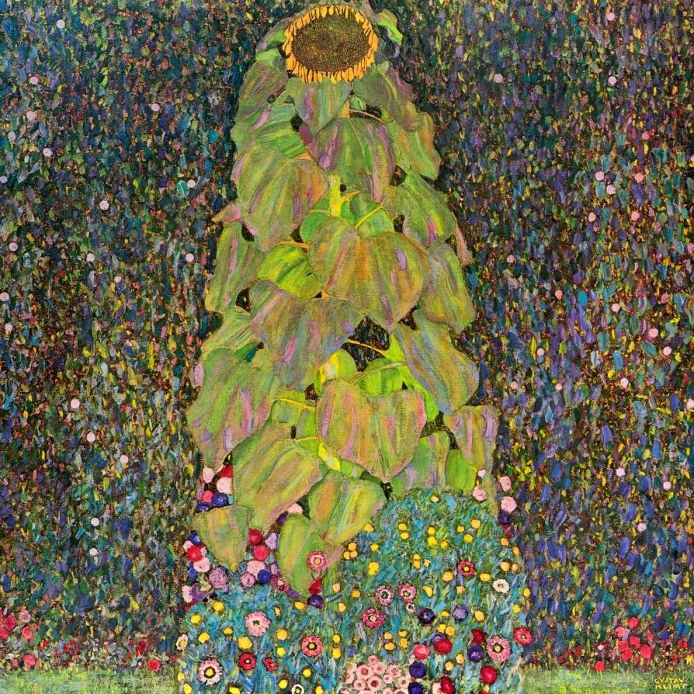 konfigurieren des Kunstdrucks in Wunschgröße Sunflower von Klimt, Gustav