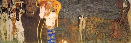 konfigurieren des Kunstdrucks in Wunschgröße The Hostile Powers (From The Beethoven Frieze) 1902 von Klimt, Gustav