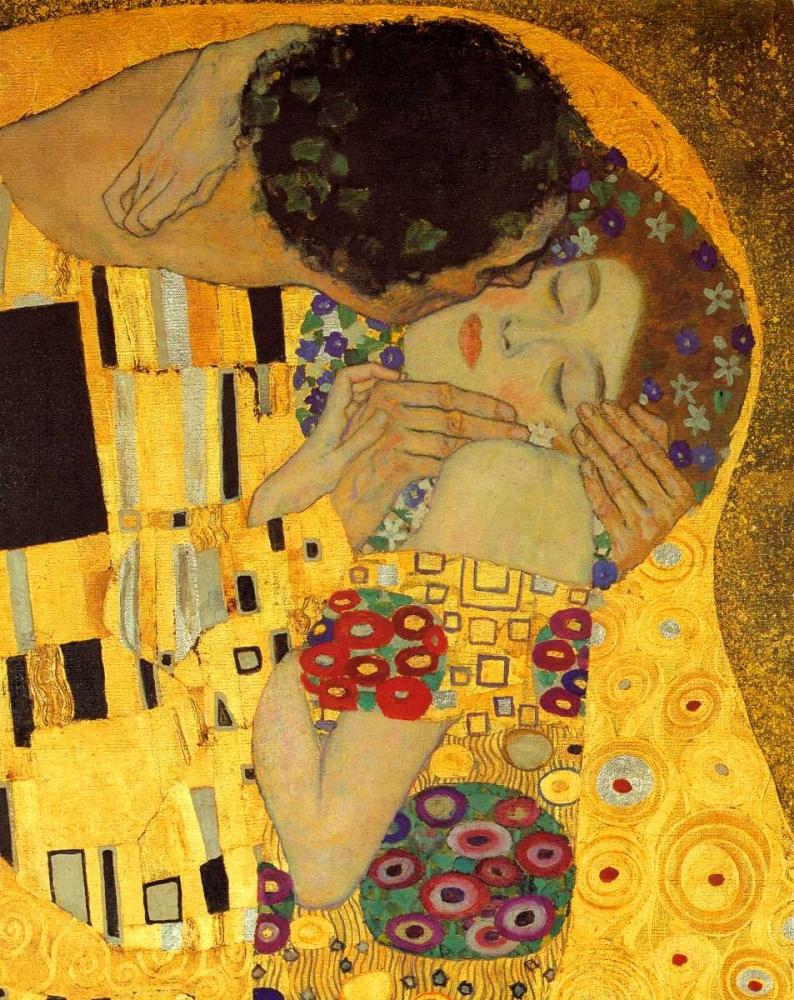 konfigurieren des Kunstdrucks in Wunschgröße The Kiss - detail 2 von Klimt, Gustav