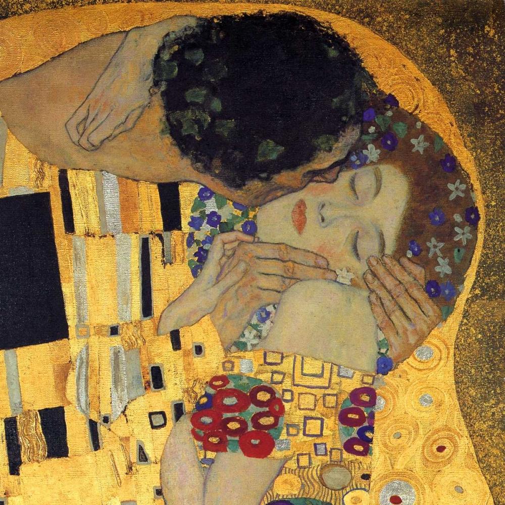 konfigurieren des Kunstdrucks in Wunschgröße The Kiss - detail 3 von Klimt, Gustav