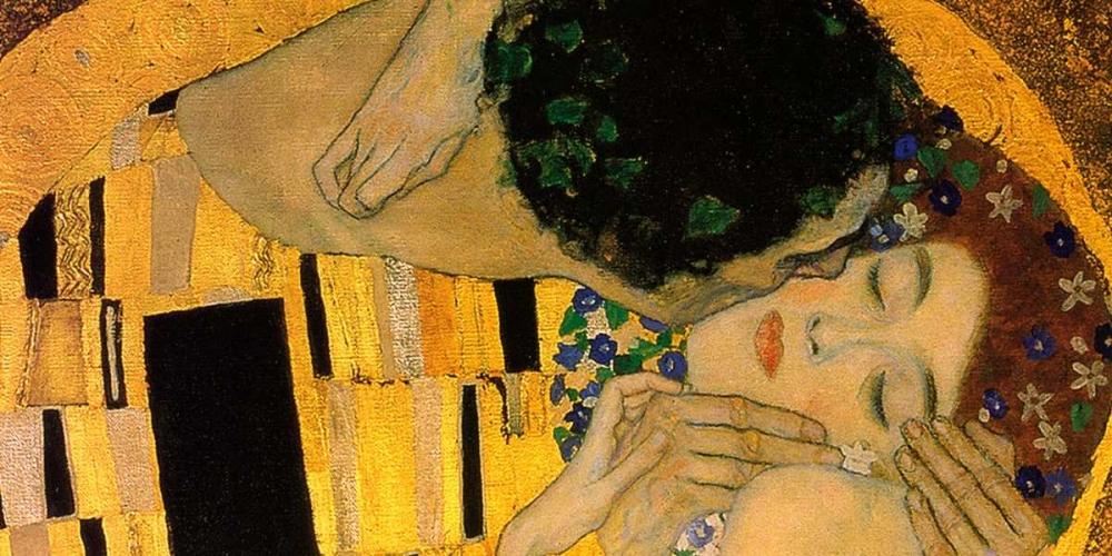 konfigurieren des Kunstdrucks in Wunschgröße The Kiss - detail 4 von Klimt, Gustav