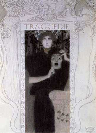 konfigurieren des Kunstdrucks in Wunschgröße Tragedy 1897 von Klimt, Gustav