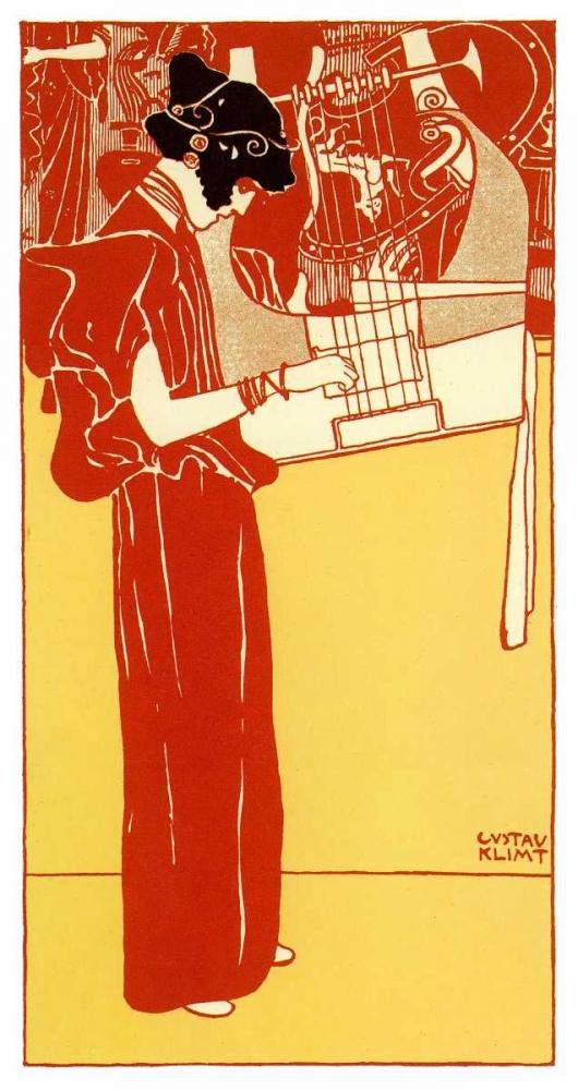 konfigurieren des Kunstdrucks in Wunschgröße Vignette Of Music 1901 von Klimt, Gustav