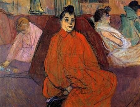 konfigurieren des Kunstdrucks in Wunschgröße In The Salon The Sofa von Toulouse-Lautrec, Henri