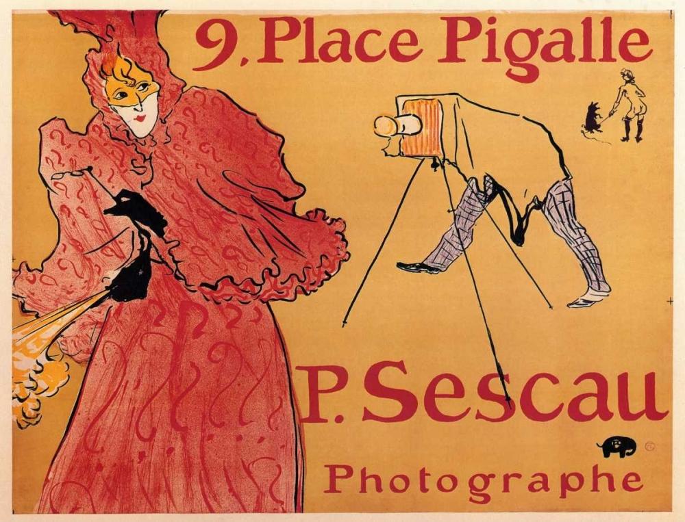 konfigurieren des Kunstdrucks in Wunschgröße The Photographer Paul Sescau von Toulouse-Lautrec, Henri
