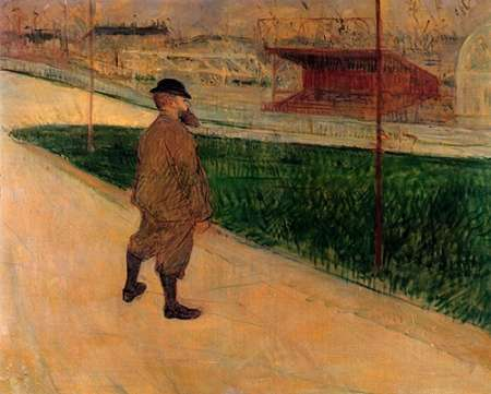 konfigurieren des Kunstdrucks in Wunschgröße Tristan Bernard At The Buffalo Stadium von Toulouse-Lautrec, Henri