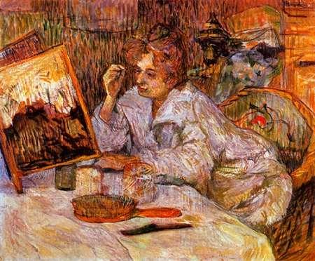 konfigurieren des Kunstdrucks in Wunschgröße Woman At Her Toilet 2 von Toulouse-Lautrec, Henri