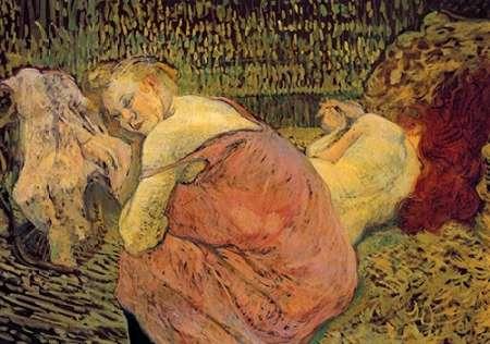 konfigurieren des Kunstdrucks in Wunschgröße Women Resting von Toulouse-Lautrec, Henri