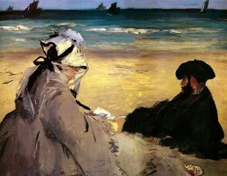 konfigurieren des Kunstdrucks in Wunschgröße At the Beach von Manet, Edouard