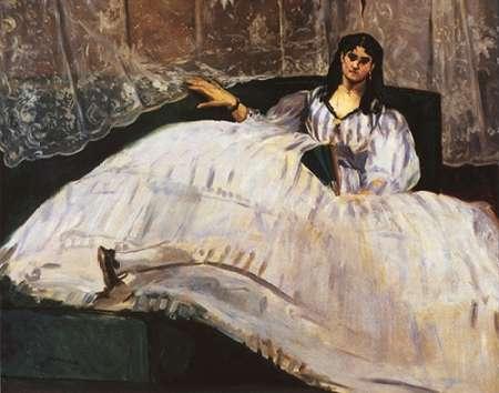 konfigurieren des Kunstdrucks in Wunschgröße Baudelaires Mistress von Manet, Edouard