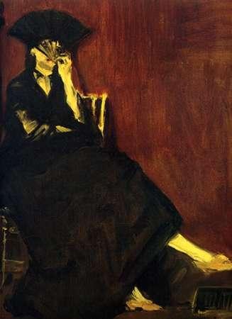 konfigurieren des Kunstdrucks in Wunschgröße Berthe Morisot with Fan von Manet, Edouard