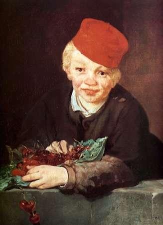 konfigurieren des Kunstdrucks in Wunschgröße Boy with Cherries von Manet, Edouard
