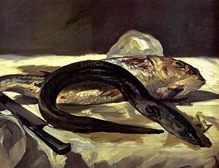 konfigurieren des Kunstdrucks in Wunschgröße Eel and Red Mullet von Manet, Edouard