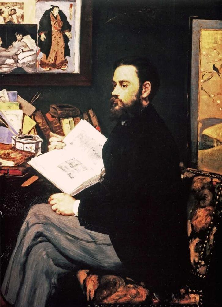 konfigurieren des Kunstdrucks in Wunschgröße Emile Zola, 1868 von Manet, Edouard