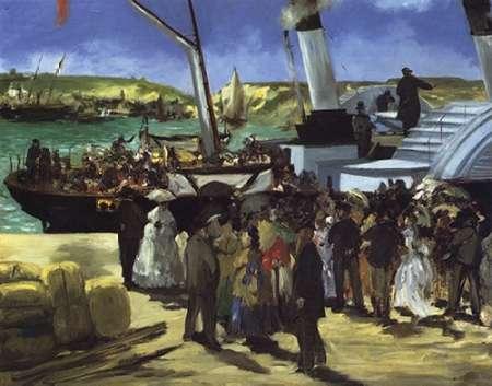 konfigurieren des Kunstdrucks in Wunschgröße Folkstone Boat Boulogne von Manet, Edouard