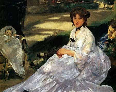 konfigurieren des Kunstdrucks in Wunschgröße In the Garden von Manet, Edouard