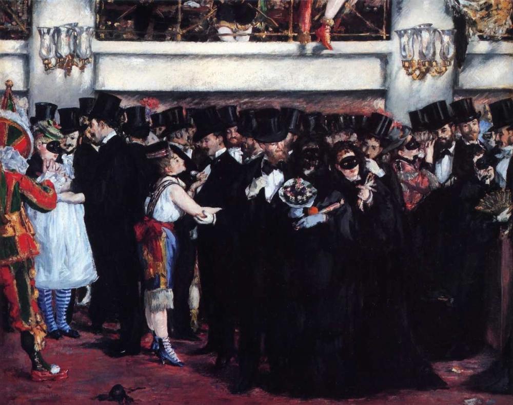 konfigurieren des Kunstdrucks in Wunschgröße Masked Ball at Opera von Manet, Edouard