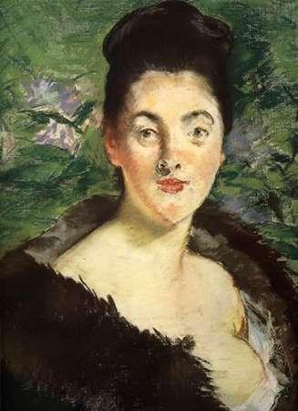 konfigurieren des Kunstdrucks in Wunschgröße Mme Jules Guillemet in Furs von Manet, Edouard
