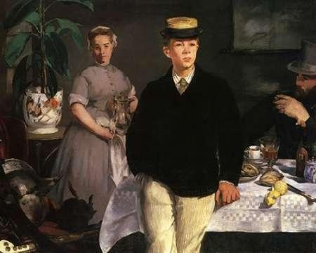 konfigurieren des Kunstdrucks in Wunschgröße The Luncheon, 1868 von Manet, Edouard