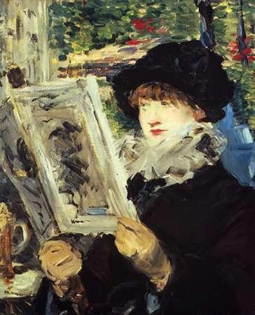 konfigurieren des Kunstdrucks in Wunschgröße Woman Reading von Manet, Edouard