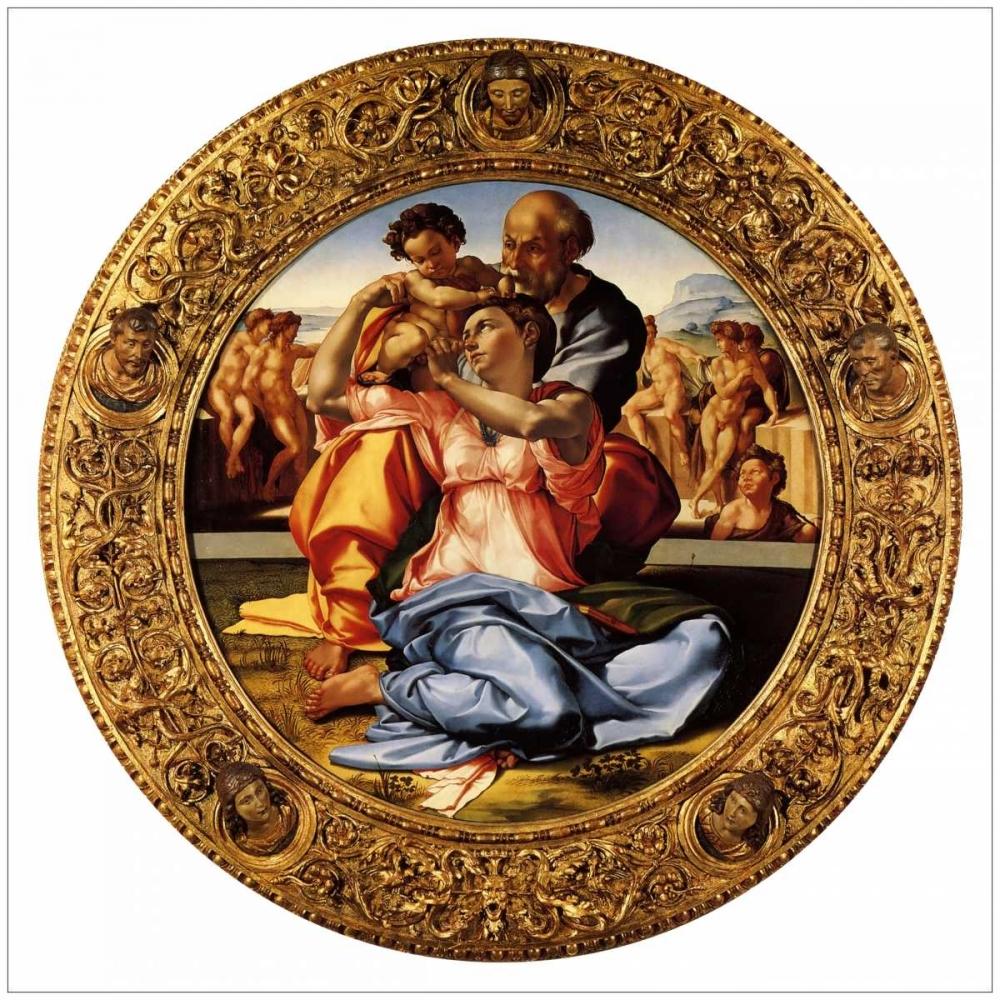 konfigurieren des Kunstdrucks in Wunschgröße Michelangela The Doni Tondo-3 von Michelangelo