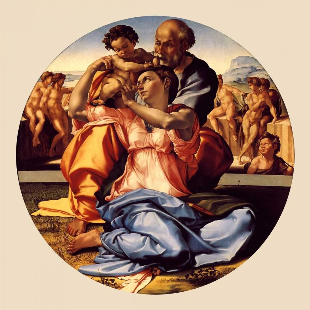 konfigurieren des Kunstdrucks in Wunschgröße Michelangela The Doni Tondo-3 copy von Michelangelo