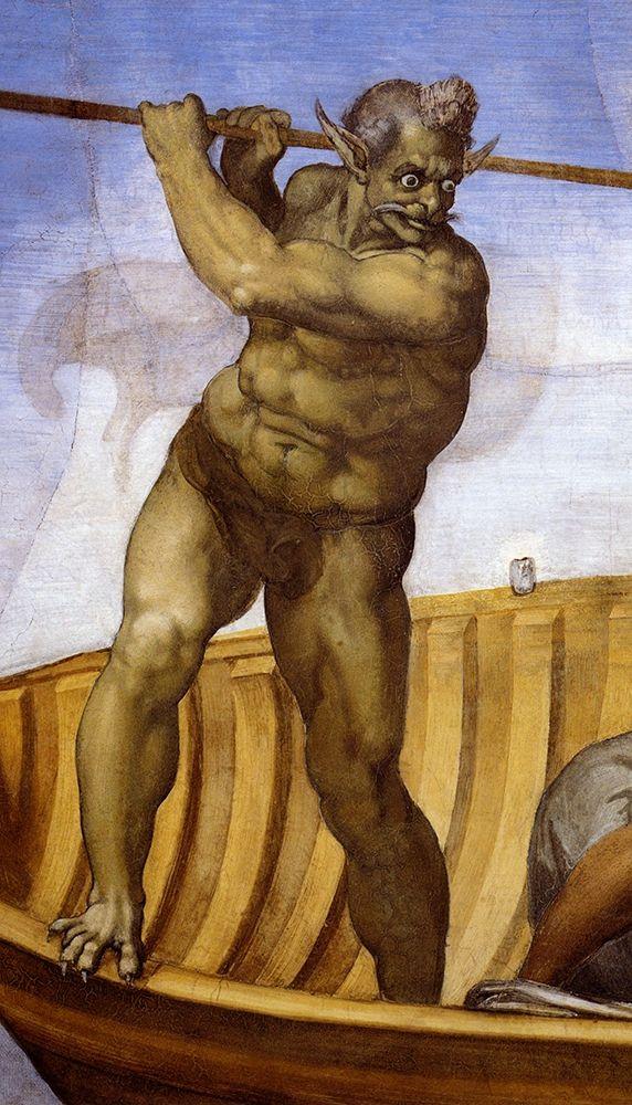 konfigurieren des Kunstdrucks in Wunschgröße Charon-3 von Michelangelo