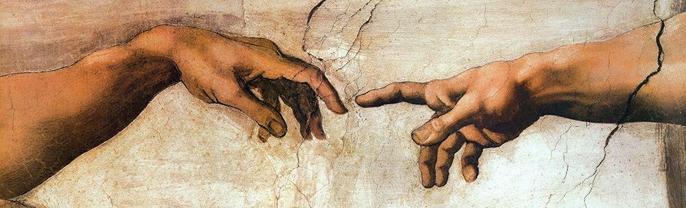 konfigurieren des Kunstdrucks in Wunschgröße Creation Of Adam von Michelangelo