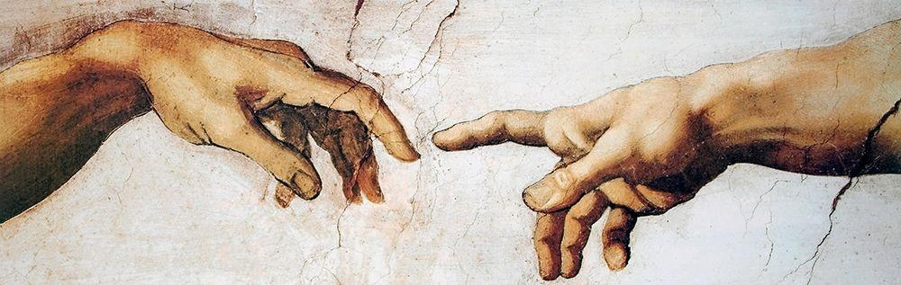 konfigurieren des Kunstdrucks in Wunschgröße Creation Of Adam Detail von Michelangelo