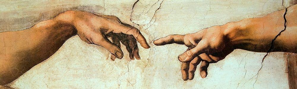 konfigurieren des Kunstdrucks in Wunschgröße Creation Of Adam (Detail 2) von Michelangelo