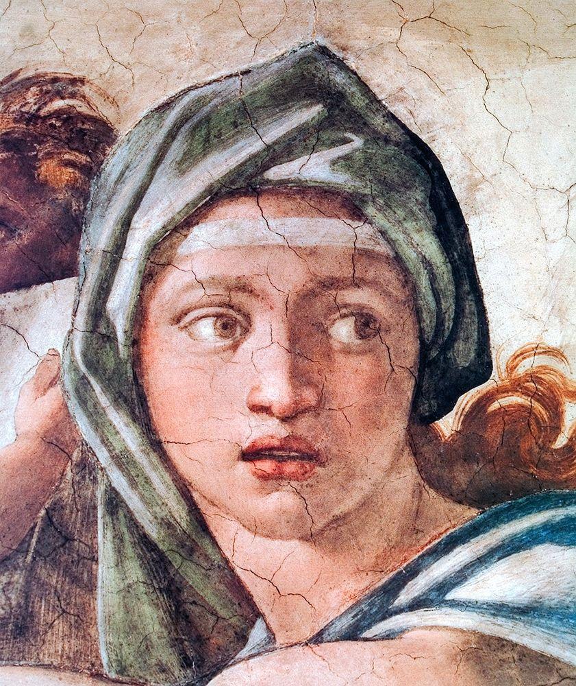konfigurieren des Kunstdrucks in Wunschgröße Delphic Sibyl von Michelangelo
