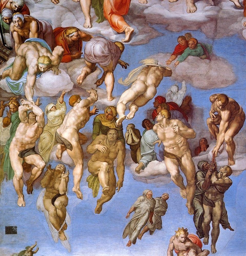 konfigurieren des Kunstdrucks in Wunschgröße Detail From The Last Judgement 11 von Michelangelo
