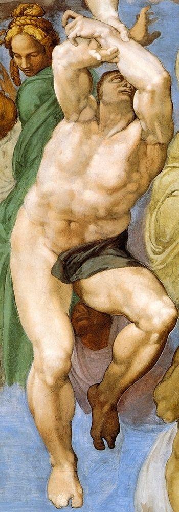 konfigurieren des Kunstdrucks in Wunschgröße Detail From The Last Judgement 12 von Michelangelo