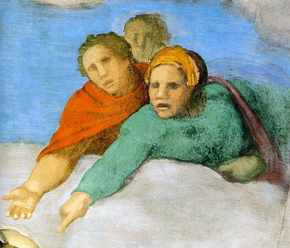 konfigurieren des Kunstdrucks in Wunschgröße Detail From The Last Judgement 13 von Michelangelo