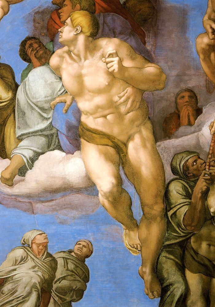 konfigurieren des Kunstdrucks in Wunschgröße Detail From The Last Judgement 14 von Michelangelo