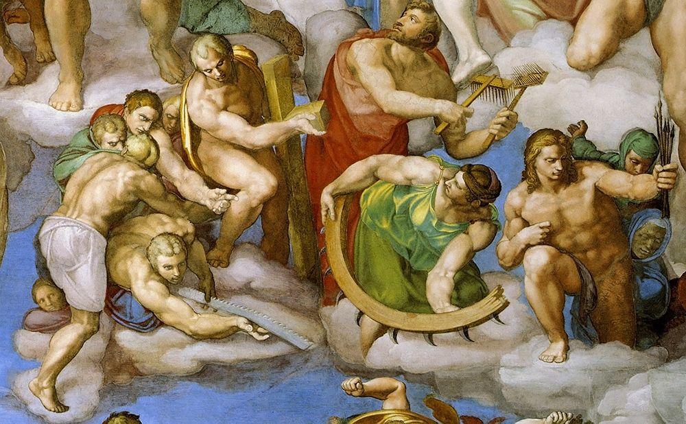 konfigurieren des Kunstdrucks in Wunschgröße Detail From The Last Judgement 15 von Michelangelo