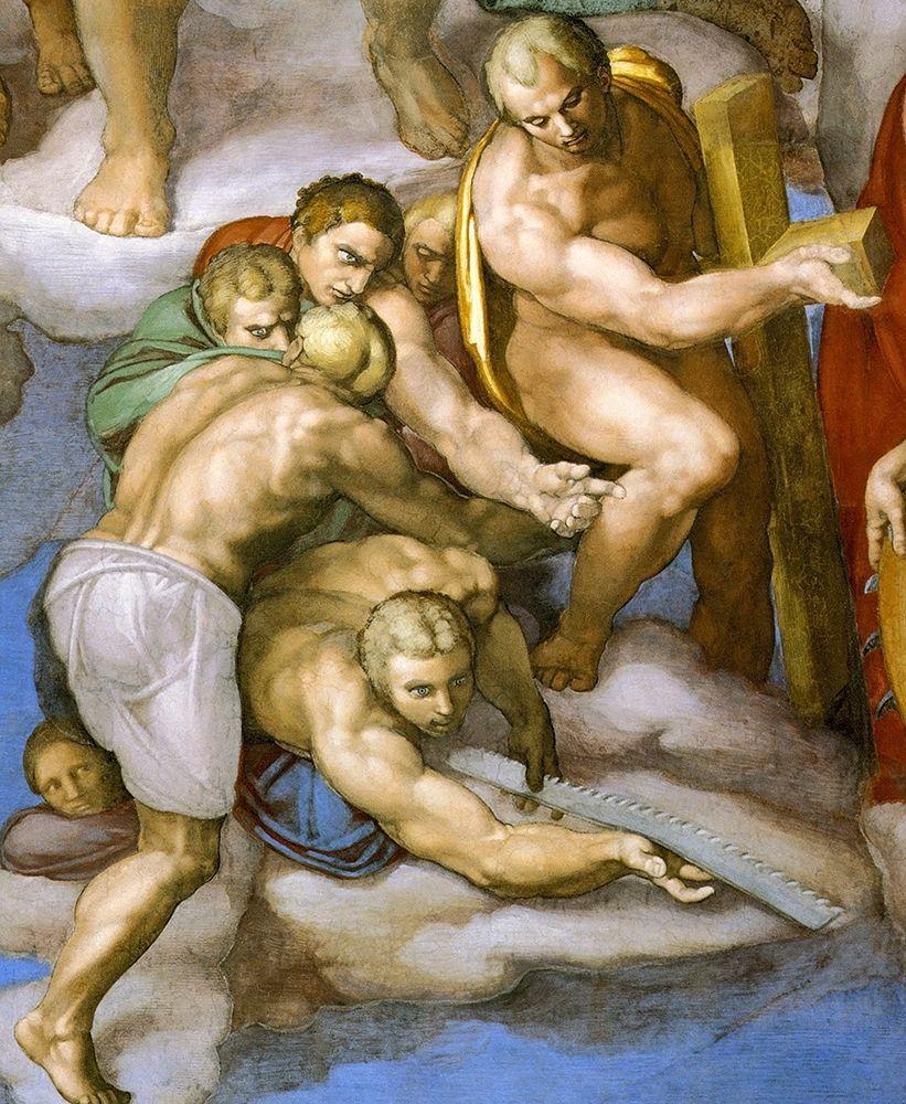 konfigurieren des Kunstdrucks in Wunschgröße Detail From The Last Judgement 16 von Michelangelo