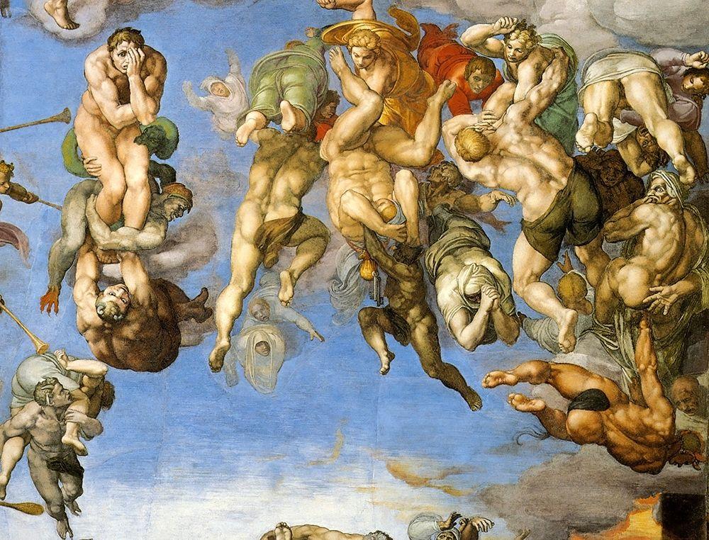 konfigurieren des Kunstdrucks in Wunschgröße Detail From The Last Judgement 18 von Michelangelo