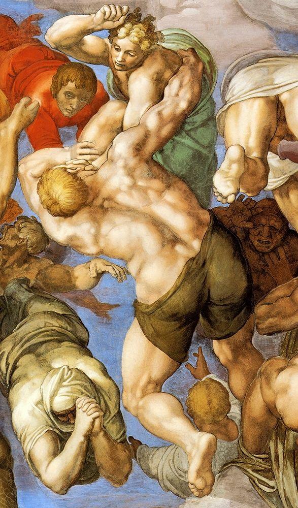 konfigurieren des Kunstdrucks in Wunschgröße Detail From The Last Judgement 19 von Michelangelo