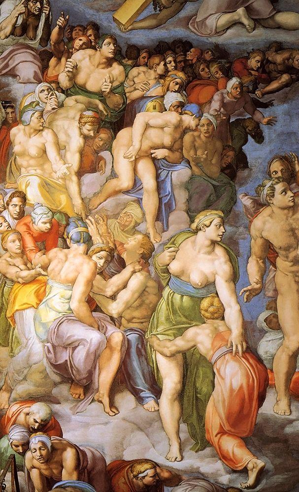 konfigurieren des Kunstdrucks in Wunschgröße Detail From The Last Judgement 20 von Michelangelo
