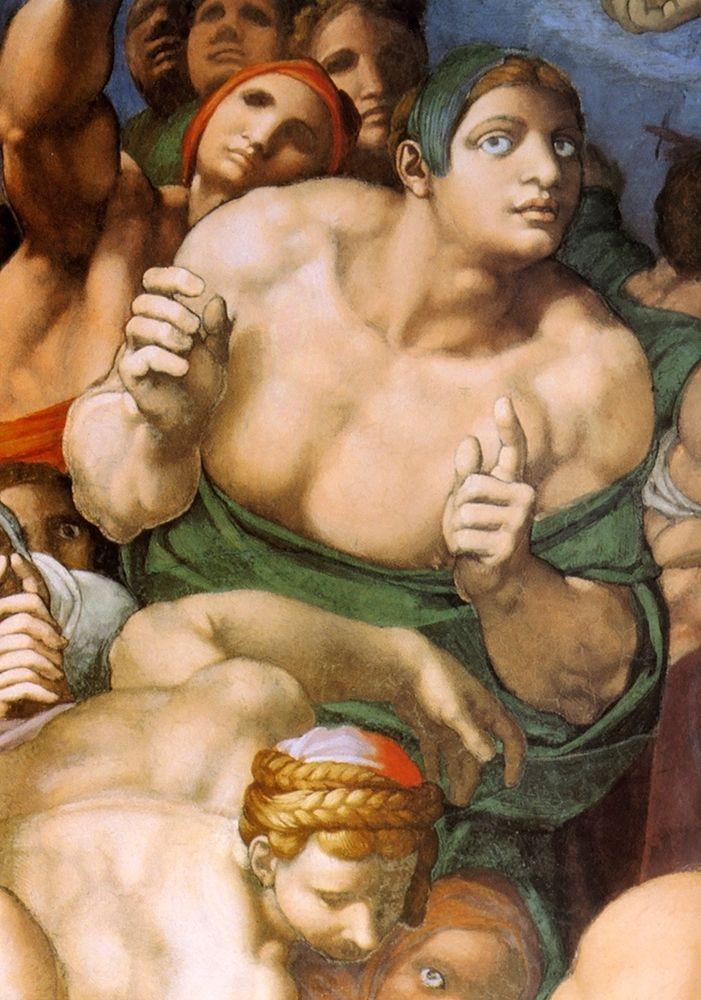 konfigurieren des Kunstdrucks in Wunschgröße Detail From The Last Judgement 21 von Michelangelo