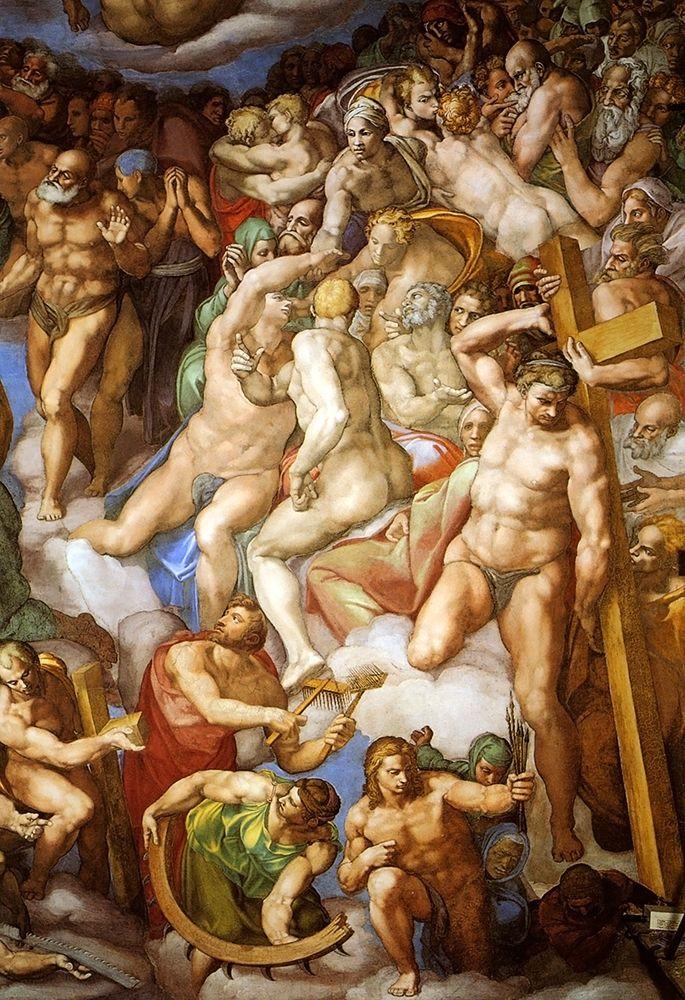 konfigurieren des Kunstdrucks in Wunschgröße Detail From The Last Judgement 22 von Michelangelo