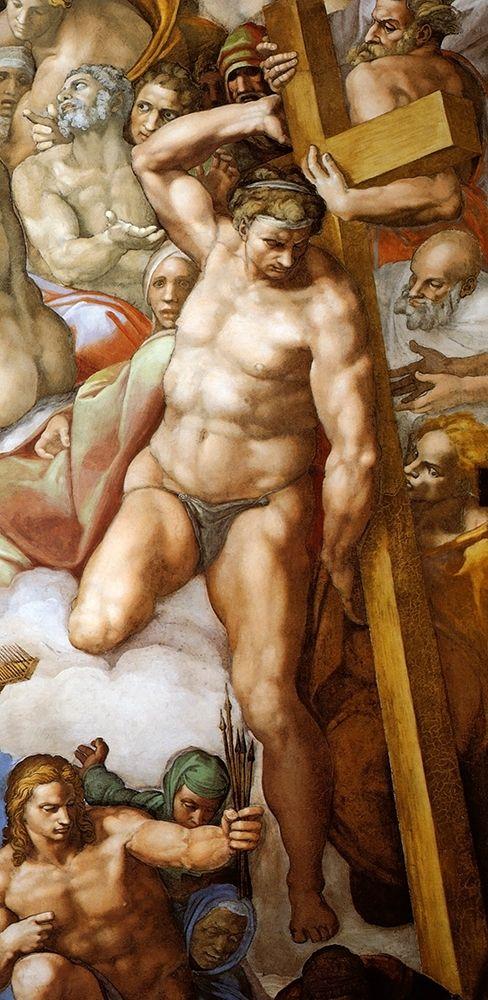 konfigurieren des Kunstdrucks in Wunschgröße Detail From The Last Judgement 23 von Michelangelo
