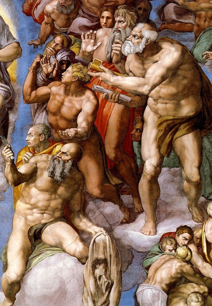 konfigurieren des Kunstdrucks in Wunschgröße Detail From The Last Judgement 25 von Michelangelo