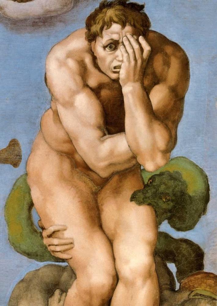 konfigurieren des Kunstdrucks in Wunschgröße Detail From The Last Judgement 26 von Michelangelo