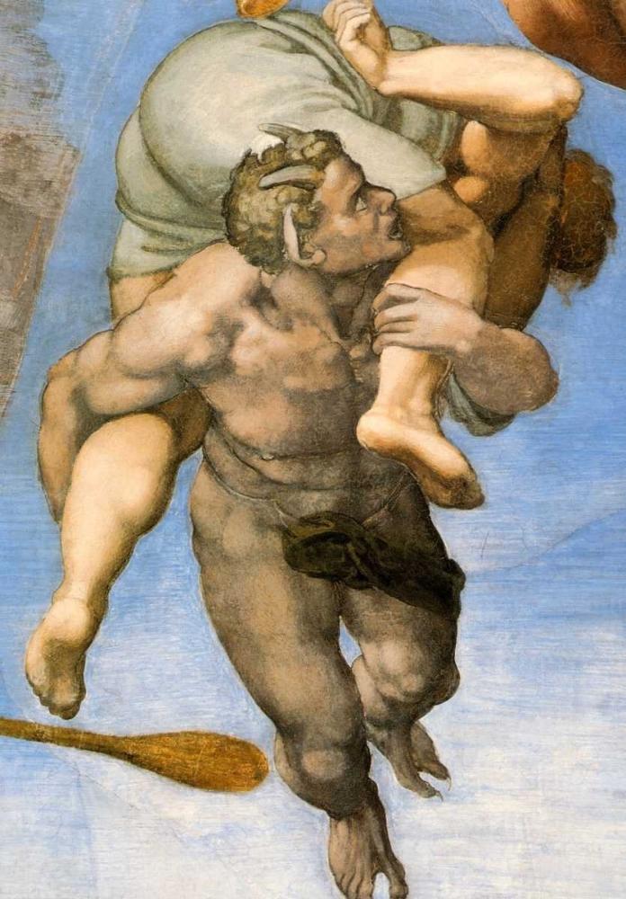 konfigurieren des Kunstdrucks in Wunschgröße Detail From The Last Judgement 27 von Michelangelo