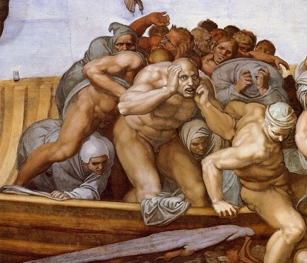 konfigurieren des Kunstdrucks in Wunschgröße Detail From The Last Judgement 28 von Michelangelo