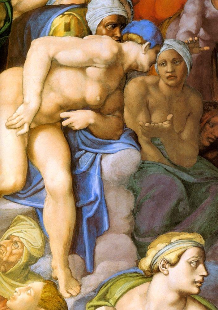 konfigurieren des Kunstdrucks in Wunschgröße Detail From The Last Judgement 29 von Michelangelo
