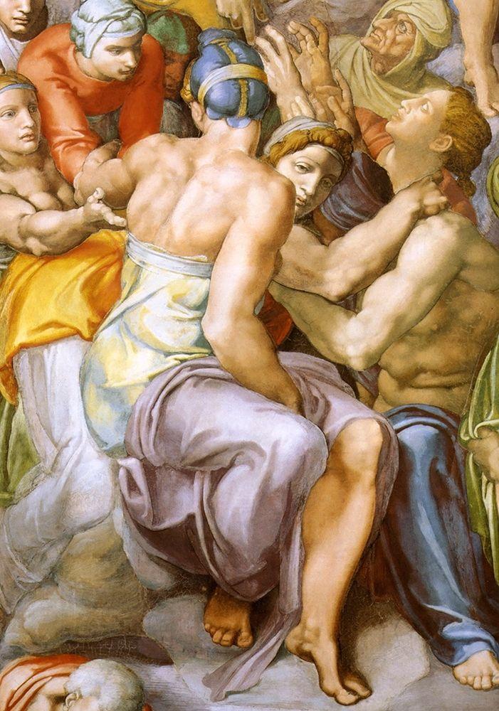 konfigurieren des Kunstdrucks in Wunschgröße Detail From The Last Judgement 30 von Michelangelo