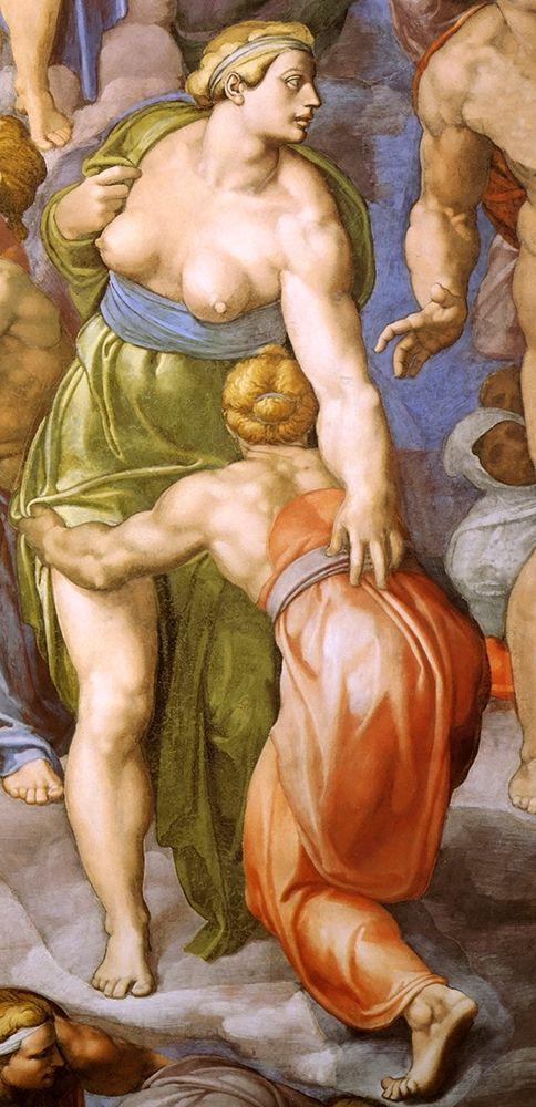 konfigurieren des Kunstdrucks in Wunschgröße Detail From The Last Judgement 31 von Michelangelo